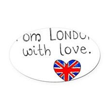 londonwithlove Oval Car Magnet