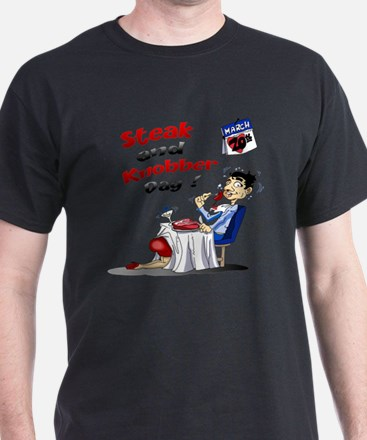 Steak and Knobber Day Logo T-Shirt