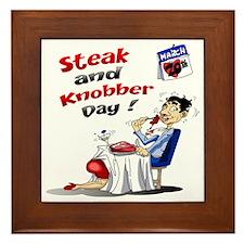 Steak and Knobber Day Logo Framed Tile