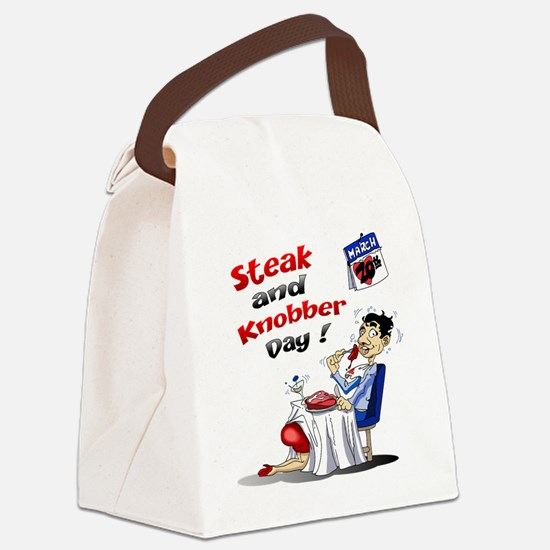 Steak and Knobber Day Logo Canvas Lunch Bag