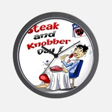 Steak and Knobber Day Logo Wall Clock
