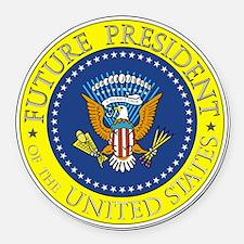 Future-President-6X6 Round Car Magnet
