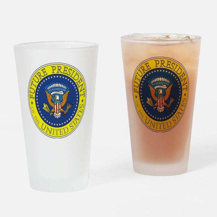 Future-President-6X6 Drinking Glass