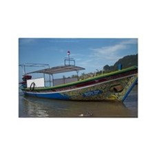 ThailandColorfulLongTailBoat Rectangle Magnet