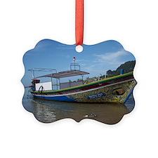 ThailandColorfulLongTailBoat Ornament