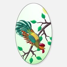 Lucky rooster Sticker (Oval)