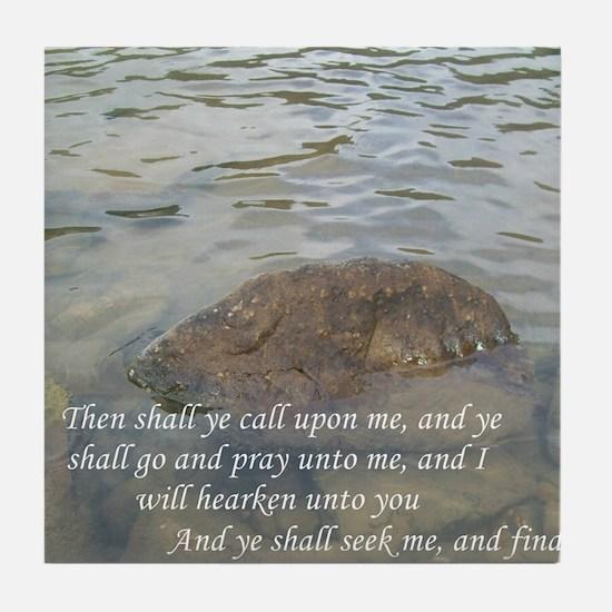 Jer 29:12-13 Tile Coaster