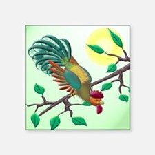 "Lucky rooster Square Sticker 3"" x 3"""