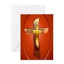 keychain 2000 Three Rugged Crosses Greeting Card