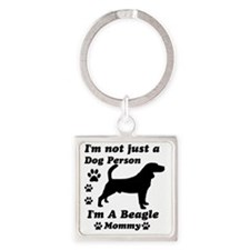 beagle_mommy Square Keychain