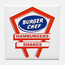 burger-chef-sign Tile Coaster