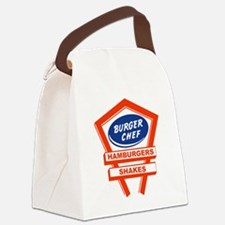 burger-chef-sign Canvas Lunch Bag
