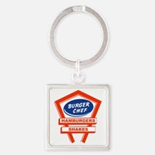 burger-chef-sign Square Keychain