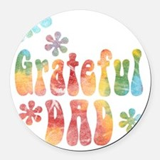the_grateful_dad Round Car Magnet
