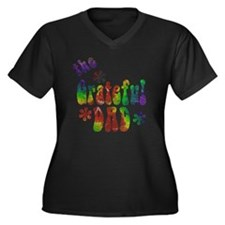 the_grateful Women's Plus Size Dark V-Neck T-Shirt