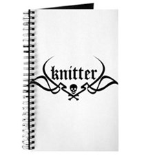 Knitter - skull pinstriping Journal