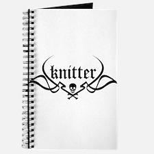 Knitter - skull pinstriping Journal
