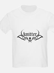 Knitter - skull pinstriping Kids T-Shirt
