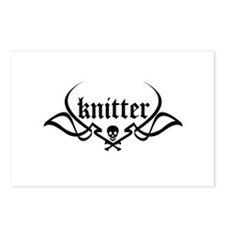 Knitter - skull pinstriping Postcards (Package of