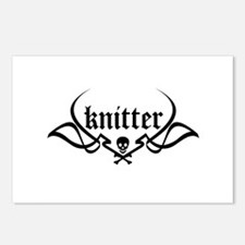 Knitter - skull pinstriping Postcards (Package of
