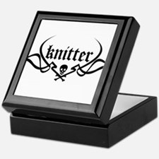 Knitter - skull pinstriping Keepsake Box
