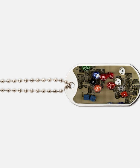 Dice and RPG dungeon map Dog Tags