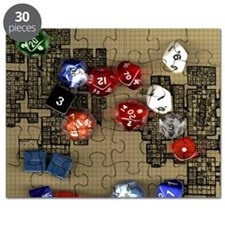Dice and RPG dungeon map Puzzle