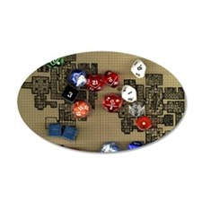 Dice and RPG dungeon map Wall Decal