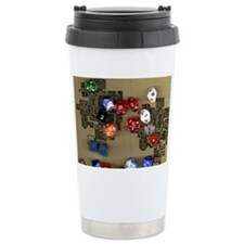 Dice and RPG dungeon map Travel Mug