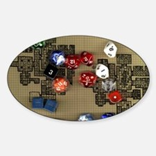 Dice and RPG dungeon map Decal
