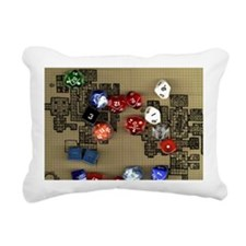 Dice and RPG dungeon map Rectangular Canvas Pillow