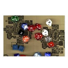 Dice and RPG dungeon map Postcards (Package of 8)
