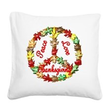 thanksgiving Square Canvas Pillow
