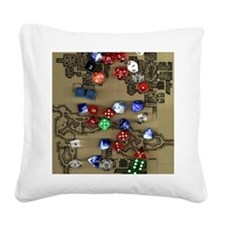 Dice and Dungeon Map Square Canvas Pillow