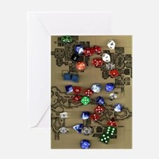 Dice and Dungeon Map Greeting Card
