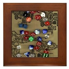 Dice and Dungeon Map Framed Tile