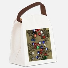 Dice and Dungeon Map Canvas Lunch Bag