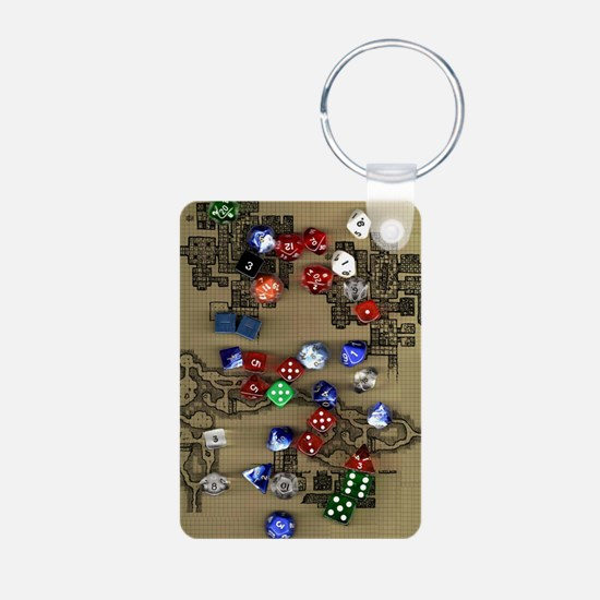 Dice and Dungeon Map Keychains