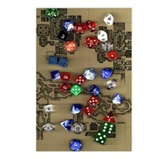 Dice and Dungeon Map Postcards (Package of 8)