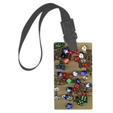 Dice and Dungeon Map Luggage Tag
