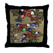 Dice and Dungeon Map Throw Pillow