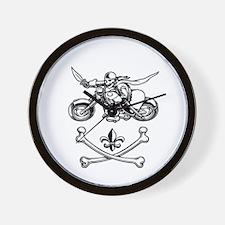 biker-n-cbones-DKT Wall Clock