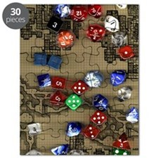 Dice and Dungeon Map Background Puzzle