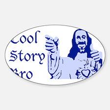 coolstoryjesusblue2 Sticker (Oval)