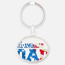 all_american_dad Oval Keychain