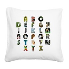 ABCsquare_trans Square Canvas Pillow