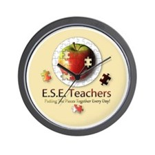 ESEteachers-button Wall Clock