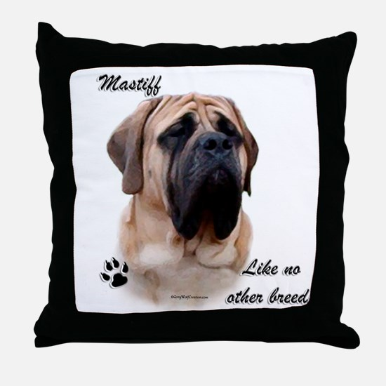 Mastiff Breed Throw Pillow