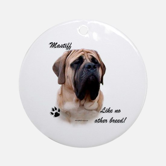 Mastiff Breed Ornament (Round)