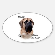 Mastiff Breed Oval Decal